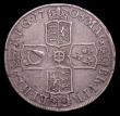 London Coins : A153 : Lot 2944 : Halfcrown 1708 SEPTIMO edge, Plain below bust ESC 577 Good Fine and bold