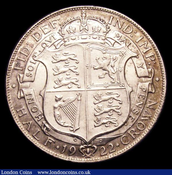 Halfcrown 1922 ESC 769, Davies 1682 Bright Finish dies 3C UNC with very light cabinet friction and a few very light contact marks : English Coins : Auction 153 : Lot 3051