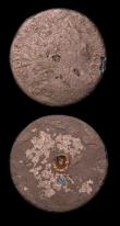 London Coins : A153 : Lot 3107 : Halfpenny or medalet in copper William and Mary, undated, Peck 636 Obv: Small bust of the King right...