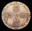 London Coins : A153 : Lot 3230 : Shilling 1697 Third Bust Variety ESC 1108 UNC with a light golden tone