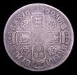 London Coins : A153 : Lot 3234 : Shilling 1699 Fifth Bust, Roses ESC 1120 VG with an old scratch on the reverse, very rare, rated R3 ...