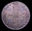 London Coins : A153 : Lot 3253 : Shilling 1711 Fourth Bust ESC 1158 About VF/NVF with a grey and gold tone