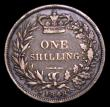 London Coins : A153 : Lot 3290 : Shilling 1848 8 over 6 ESC 1294 VG and darkly toned, Rare