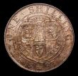 London Coins : A153 : Lot 3309 : Shilling 1893 Small Obverse Letters ESC 1361A, Davies 1010 dies 1A A/UNC the reverse with an attract...
