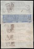London Coins : A153 : Lot 437 : USA Confederate States 100 Dollars 1862 Richmond (4) numbers 45272, 45273, 45264, 48887, About VF wi...