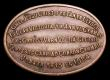 London Coins : A153 : Lot 799 : Glamorganshire, Llantrisant, William Price, oval copper memorial token to Jesus Christ, 1884, serpen...