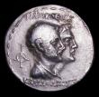 London Coins : A154 : Lot 1539 : Indo-Greek, Baktria Tetradrachm Eurkatides (171-135 BC) Obverse helmeted bust right, Reverse conjoin...