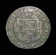 London Coins : A154 : Lot 1619 : Halfcrown James I Third Coinage, plain ground line on obverse, Reverse with plume above shield S.266...