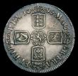 London Coins : A154 : Lot 1740 : Crown 1695 Septimo ESC 86 Good Fine and nicely tone with a heavy edge nick by GRA