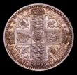 London Coins : A154 : Lot 1950 : Florin 1848 Pattern, Obverse a Reverse Ai ESC 886 as the adopted Godless design, nFDC colourfully to...