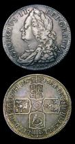London Coins : A154 : Lot 2254 : Halfcrowns (2) 1745 LIMA ESC 605 Good Fine, 1746 LIMA ESC 606 Fine/Good Fine