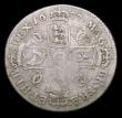 London Coins : A154 : Lot 2495 : Shilling 1677 ESC 1050 VG or slightly better with a weakly struck area on the reverse, Rare,only the...