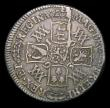 London Coins : A154 : Lot 2498 : Shilling 1693 9 over 0 ESC 1076A Near Fine with grey tone