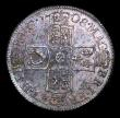 London Coins : A154 : Lot 2505 : Shilling 1708 Third Bust ESC 1147 UNC with some haymarks, under a choice deep blue and green tone