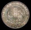 London Coins : A154 : Lot 2596 : Shilling 1893 Small Obverse Lettering ESC 1361A, Davies 1010 dies 1A UNC and attractively toned with...