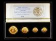 London Coins : A154 : Lot 479 : United Kingdom 1989 Gold Proof Sovereign Four Coin Collection 500th Anniversary of the Sovereign. Ha...