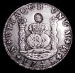 London Coins : A154 : Lot 779 : Dollar George III  Countermark  Oval on 1745 Mexico City Pillar Dollar S.3765 Bull 1856 (R5), 26.67 ...
