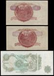 London Coins : A154 : Lot 98 : Errors (2) GB One Pound Page HW51 829449 with a small vertical fold left of centre showing a double ...