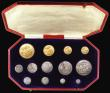 London Coins : A155 : Lot 114 : Proof Set 1902 Long Matt Set 13 coins Five Pounds, Two Pounds, Sovereign, Half Sovereign, Crown, Hal...