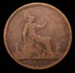 London Coins : A155 : Lot 1195 : Penny 1863 Open 3 in date unlisted by Freeman, Gouby 1863B, Satin 46, the variety confirmed by the 3...