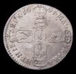 London Coins : A155 : Lot 1256 : Shilling 1697N First Bust ESC 1099 NVF/GF