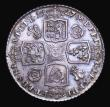London Coins : A155 : Lot 1277 : Shilling 1727 George II Roses and Plumes as ESC 1190 the 2 of the date double struck, the underlying...