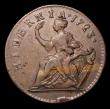 London Coins : A155 : Lot 2250 : Ireland Halfpenny 1723 Woods, No stop before H, Small 3, S.6601, Breen 157 Near VF the obverse attra...