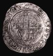London Coins : A155 : Lot 500 : Halfcrown Charles I Group III, third horseman, Group 3a2, S.2775 mintmark Anchor, this strangely for...