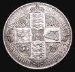 London Coins : A155 : Lot 726 : Crown 1847 Gothic UNDECIMO ESC 288 NEF with some contact marks and edge nicks