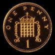 London Coins : A155 : Lot 810 : Decimal Penny 2002 Gold Proof (from the Golden Jubilee Proof Set) LCGS Variety 03 nFDC slabbed and g...