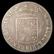 London Coins : A155 : Lot 963 : Halfcrown 1689 Second Shield, No Frosting, No Pearls ESC 512 Fine, slabbed and graded LCGS 25