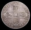 London Coins : A155 : Lot 973 : Halfcrown 1707 E SEXTO with error edge reading T*TAMEN, Bull 1380 rated R4 by Bull, Near Fine/About ...