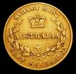 London Coins : A156 : Lot 1054 : Australia Half Sovereign 1861 Sydney Branch Mint Marsh 386 Good Fine