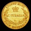 London Coins : A156 : Lot 1055 : Australia Half Sovereign 1865 Marsh 390 Good Fine with a thin scratch on the obverse