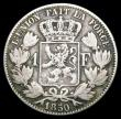 London Coins : A156 : Lot 1094 : Belgium One Franc 1850 No period in signature KM#16.2 VG the reverse slightly better