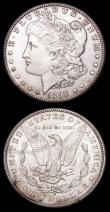 London Coins : A156 : Lot 1100 : Brazil 960 Reis 1814R KM#307.3 GVF toned with a couple of thin scratches, USA Dollar 1898 O Breen 56...