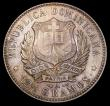 London Coins : A156 : Lot 1151 : Dominican Republic Half Peso 1897A KM#15 Toned UNC