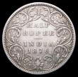 London Coins : A156 : Lot 1238 : India Half Rupee 1876 Bombay KM#472 Good Fine