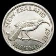 London Coins : A156 : Lot 1326 : New Zealand Sixpence 1947 KM#8a UNC
