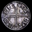 London Coins : A156 : Lot 1749 : Penny Aethelred II Long Cross type S.1151 Lincoln Mint, moneyer Osgut GVF