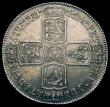 London Coins : A156 : Lot 1872 : Crown 1746 LIMA ESC 125 UNC and nicely toned, slabbed and graded LCGS 78