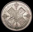 London Coins : A156 : Lot 2078 : Florin 1932 ESC 952 GEF/AU and lustrous, the obverse with some contact marks, slabbed and graded LCG...