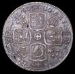 London Coins : A156 : Lot 2206 : Halfcrown 1720 20 over 17 ESC 590 GVF with an attractive blue and green  tone and with some light ha...