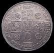 London Coins : A156 : Lot 2211 : Halfcrown 1745 5 over 3 Roses ESC 604A EF and pleasing, the reverse with underlying tone, slabbed an...