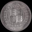 London Coins : A156 : Lot 2293 : Halfcrown 1887 Jubilee Head ESC 719 Davies 641 dies 2A Choice UNC, slabbed and graded LCGS 85, the f...