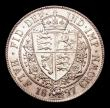 London Coins : A156 : Lot 2299 : Halfcrown 1897 ESC 731 UNC and lustrous, a couple of small tone lines on the reverse barely detract