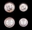 London Coins : A156 : Lot 2386 : Maundy Set 1909 ESC 2525 UNC and lustrous with minor contact marks and a couple of tiny rim nicks, a...