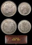 London Coins : A156 : Lot 2410 : Maundy Set 1852 ESC 2462 A/UNC to UNC with minor cabinet friction and with an attractive matching to...