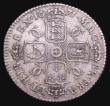 London Coins : A156 : Lot 2559 : Shilling 1671 ESC 1034 Good Fine and toned with some light haymarking, the reverse with some thin sc...