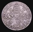London Coins : A156 : Lot 2562 : Shilling 1684 ESC 1066 NVF/GF the obverse with a couple of heavier scratches, however the finest we ...